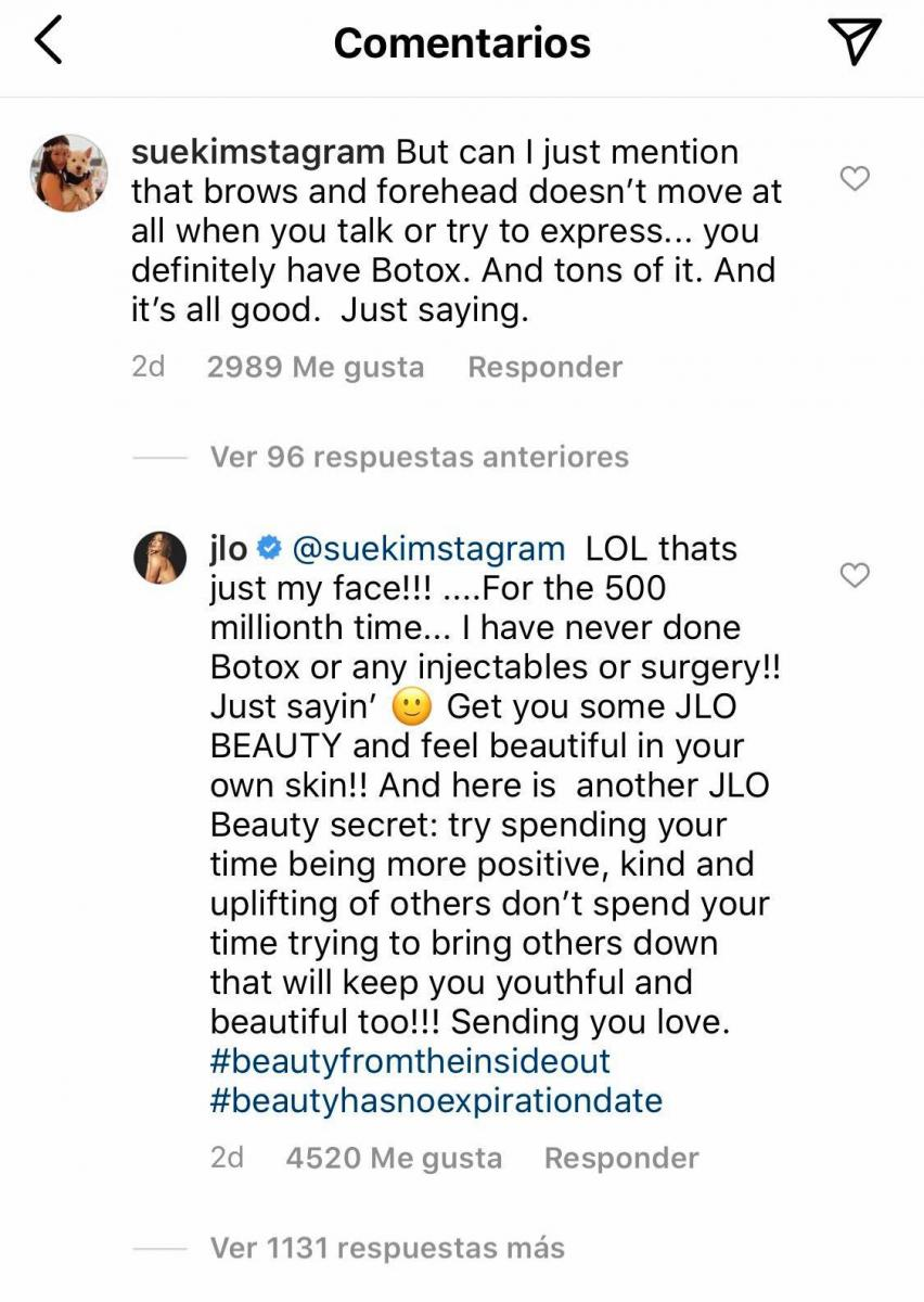 Jennifer Lopez responde
