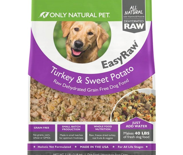 Only Natural Pet Grain Free Easyraw Raw Dehydrated Turkey Sweet Potato Wet Dog Food Clean Label Project