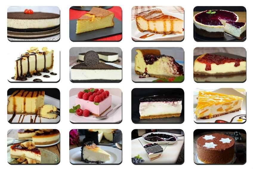 Resultado de imagen de tartas de queso diferentes