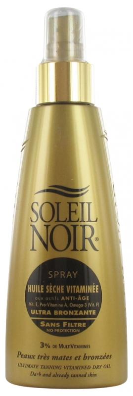 soleil noir huile seche vitaminee ultra bronzante sans filtre spray 150 ml