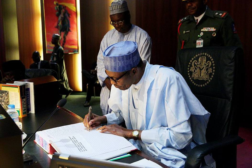 BREAKING!!! SEE THE EIGHT BILLS PRESIDENT BUHARI SIGNED INTO LAW IN JUST ONE DAY