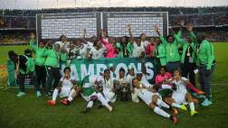 Image result for Super Falcons release AWCON trophy