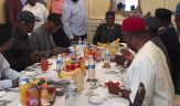 Image result for Buhari and Oyegun in London