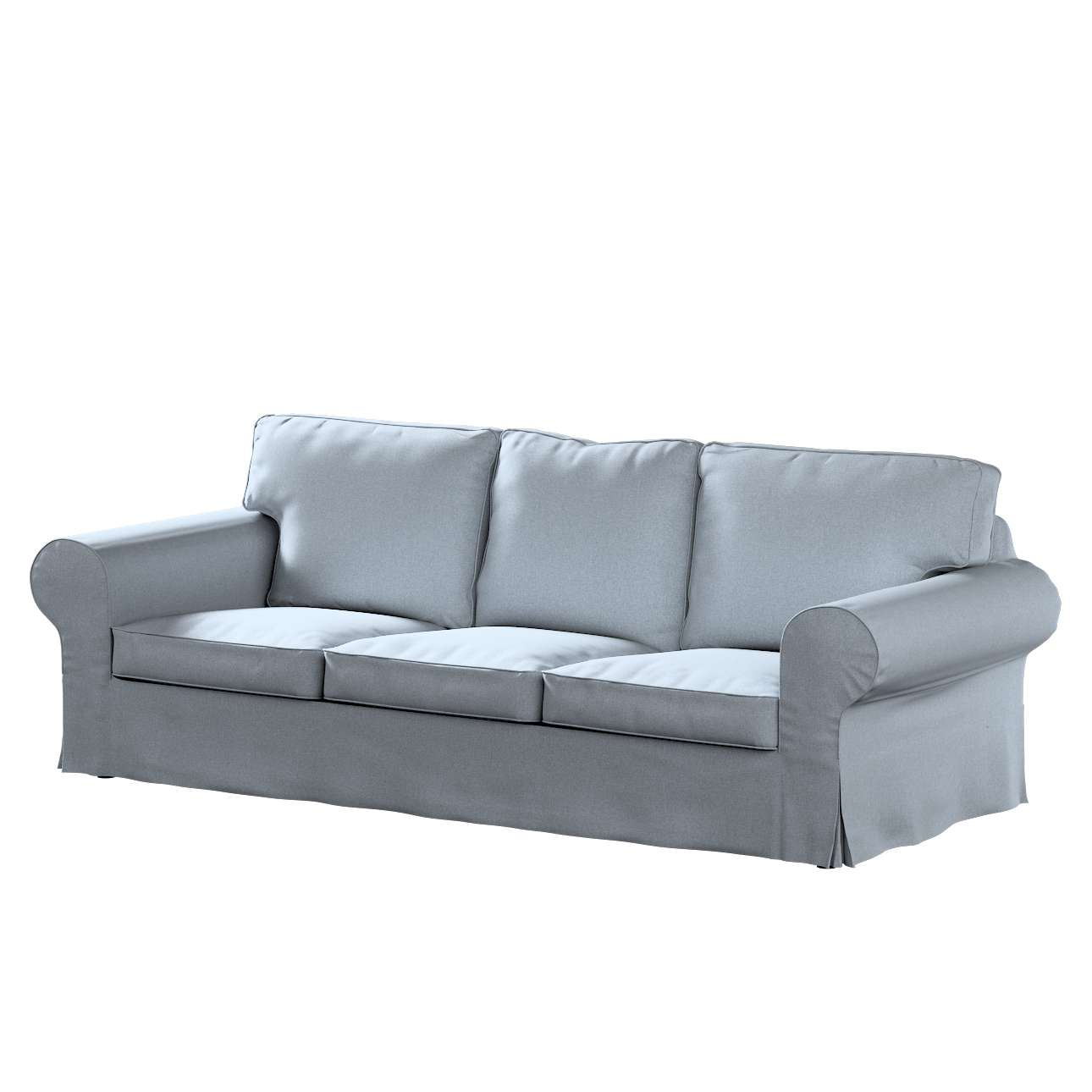 Farlov 3 seater sofa cover set includes 6 pieces: Ektorp 3-seater sofa cover, blue blend, 704-46, Ektorp 3 ...