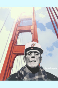 #goldengate (Frankie's Selfie) T Shirt By Filippob Frankenstein taking a photo of himself.