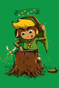 DJ Link Shirt. Zelda and the spitit forest.