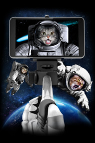 #Space Selfie T Shirt By HarvestBros Space cats taking selfies