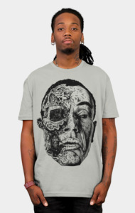 Look at Me (aka Gus) Super detailed illustration t-shirt of the once mighty Pollo Hermano himself, Gus! With all other elements removed and this hyper detailed look of the aftermath, this t-shirt will blow everyone's mind who sees it. Stunning extremely detailed illustration t-shirt with almost zombie like appeal.