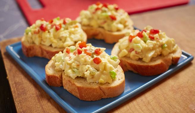 Egg Salad Crostini