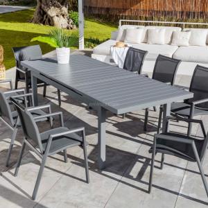 table de jardin alu bois metal