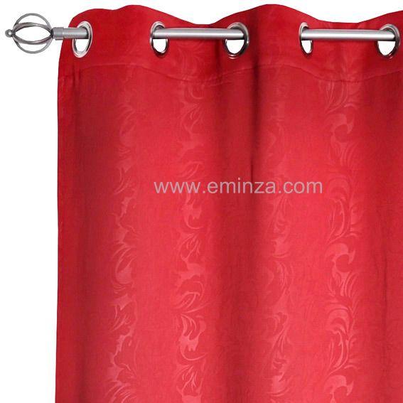 rideau occultant 140 x h240 cm design rouge