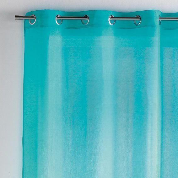voilage 140 x 240 cm paloma turquoise