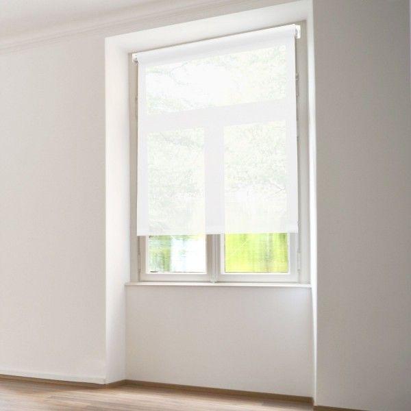 store enrouleur tamisant 45 x 180 cm uni blanc