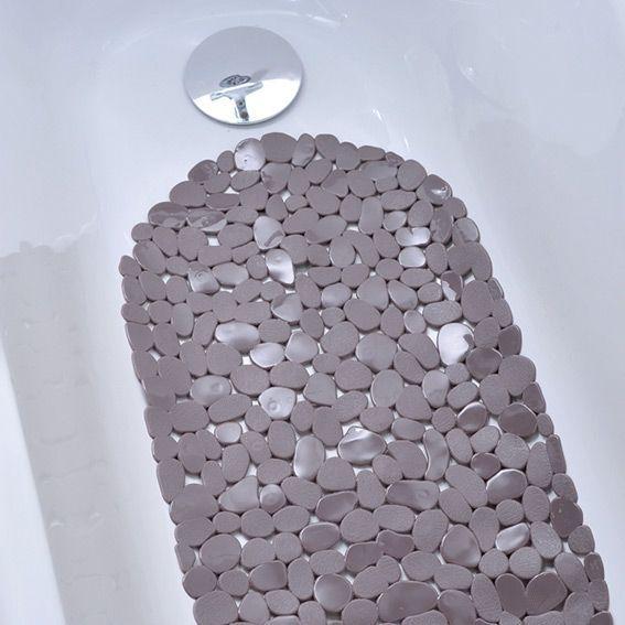 tapis de fond de baignoire anti derapant taupe