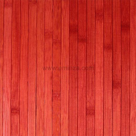 tapis de bain lattes bambou rouge