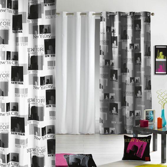 rideau 140 x h240 cm urban pop blanc