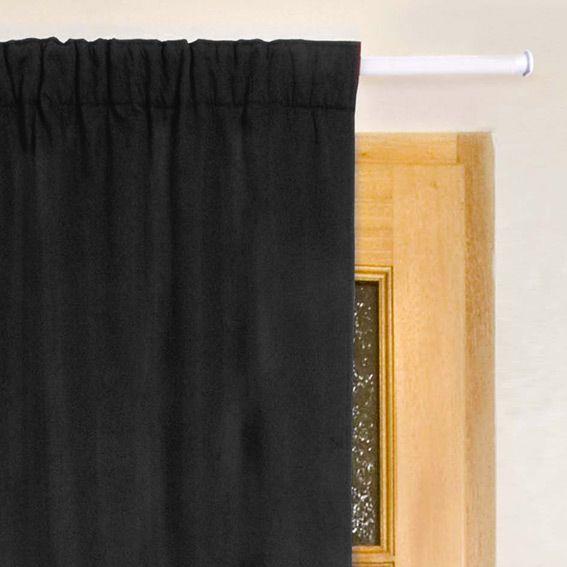 rideau de porte thermique 100 x h220 cm igloo noir