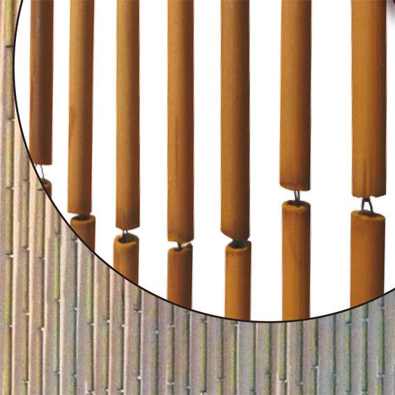rideau de porte 90 x h200 cm bambou sticks naturel