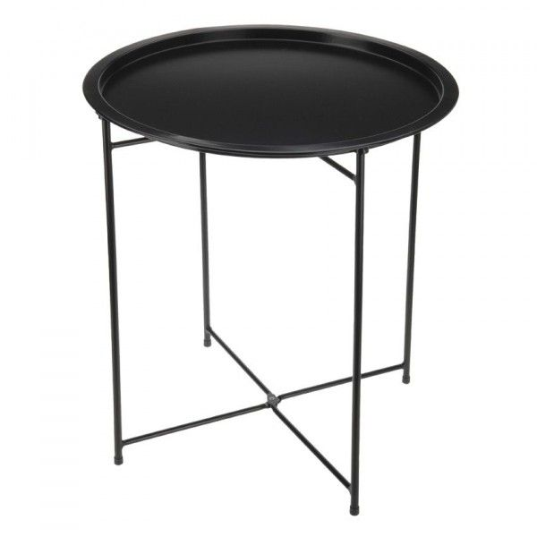 table d appoint pliante aguza noir