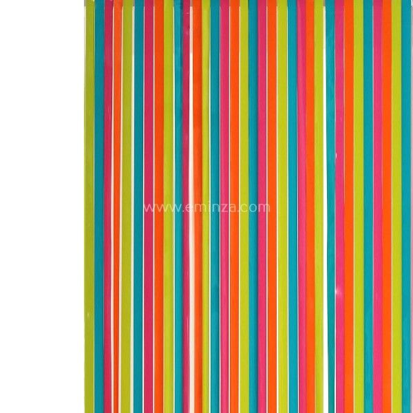 rideau de porte 90 x h220 cm lanieres pvc multicouleur