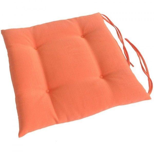 coussin de chaise matelasse river corail