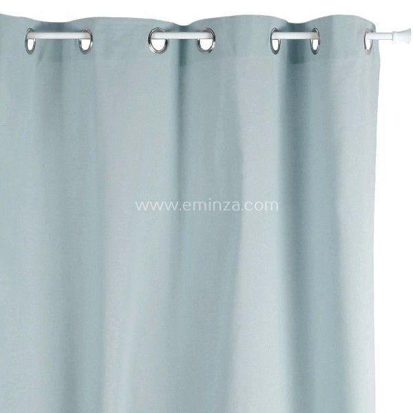 rideau tamisant 140 cm x h240 etna bleu gris