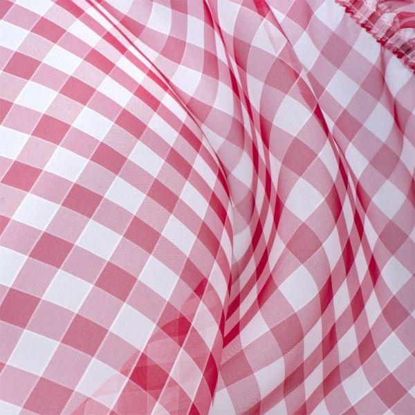 paire de voilages bonne femme 65 x 220 cm hortensia rouge