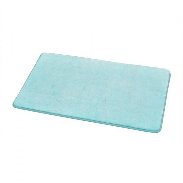 tapis de bain uni vert d eau