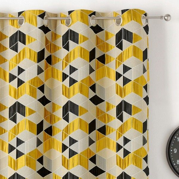 rideau tamisant 135 x 250 cm arletty jaune