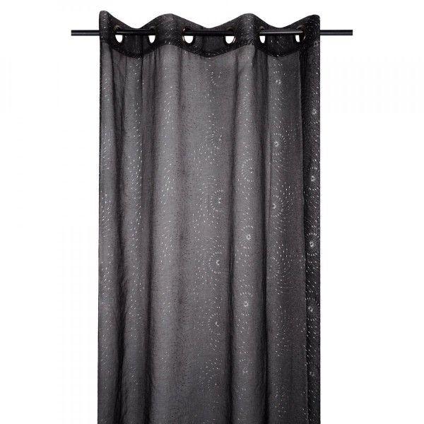 voilage 135 x 260 cm tourby noir