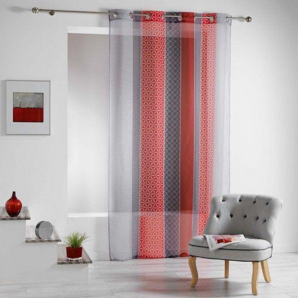 voilage 140 x 240 cm galliance rouge
