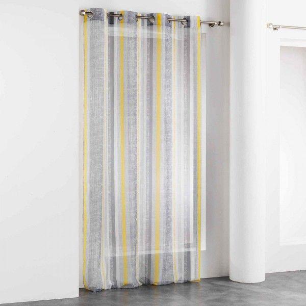 voilage 140 x 240 cm initio jaune