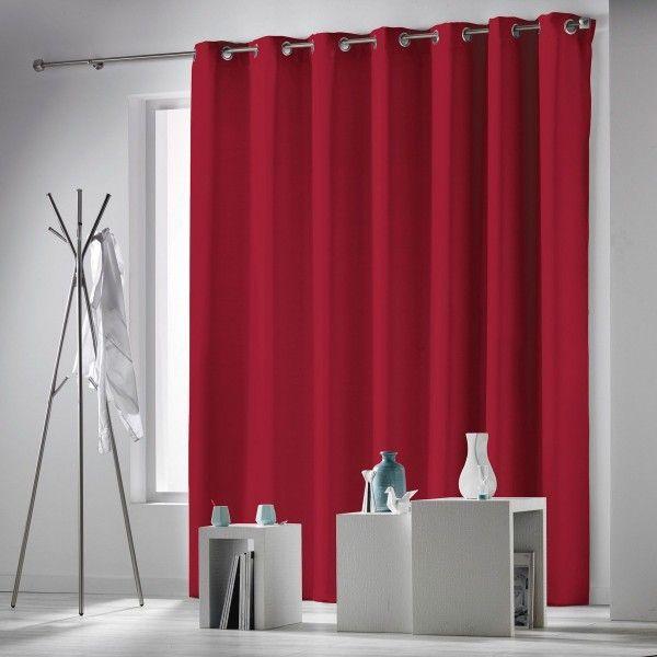 rideau occultant 280 x 260 cm occulteo rouge