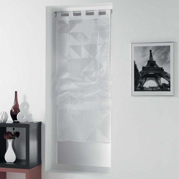 store voilage droit 60 x 180 cm galbiano blanc