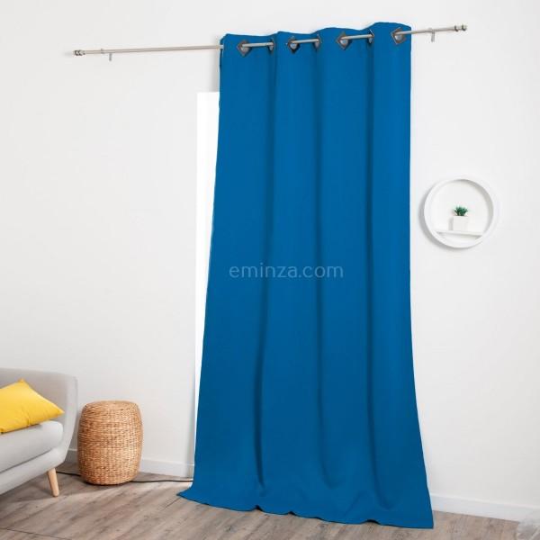 rideau occultant 140 x 260 cm cocoon bleu indigo