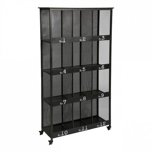 bibliotheque torof noire metal 12 cases