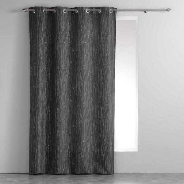 rideau tamisant 140 x 260 cm filiane gris anthracite