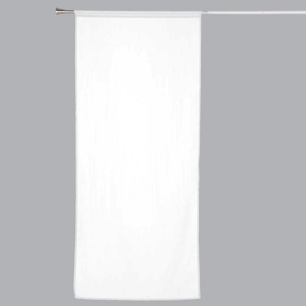 voilage vitrage 70 x 200 cm etamine givree blanc