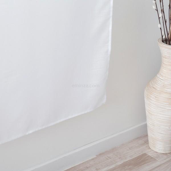 voilage vitrage 90 x 200 cm etamine givree blanc
