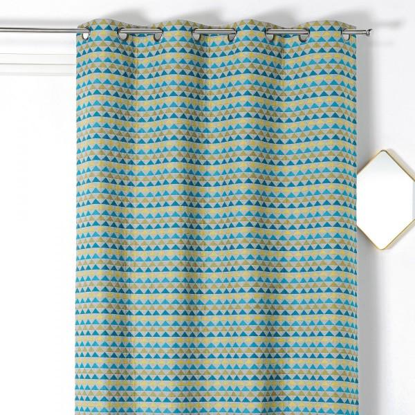 rideau tamisant 140 x 245 cm selena bleu vert