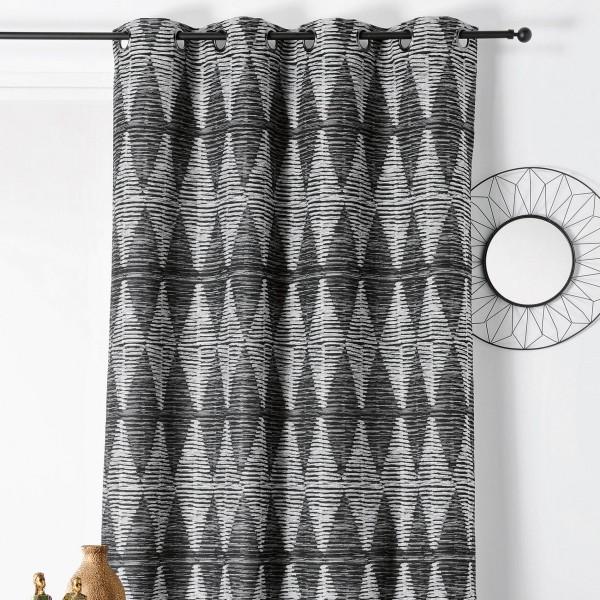 rideau tamisant 140 x 240 cm douala gris clair