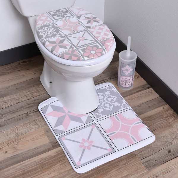 tapis contour wc bastide rose