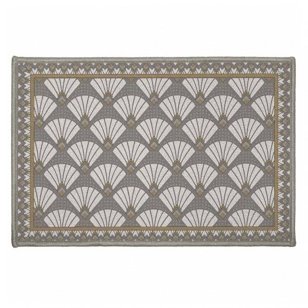 tapis multi usage 60 cm art deco chic gris