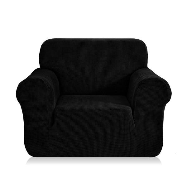 housse de fauteuil extensible prisca noir ebene