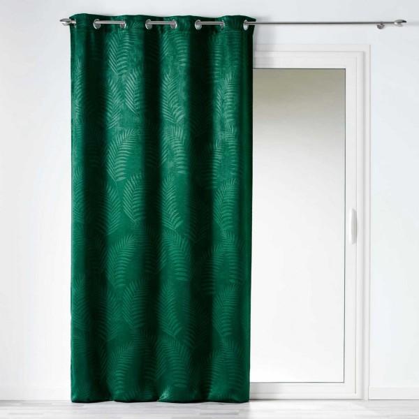 rideau occultant 140 x 240 cm tropicaline vert emeraude