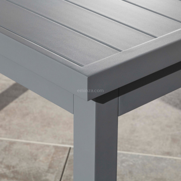 table de jardin extensible 10 places aluminium corfu 245 x 100 cm gris ardoise