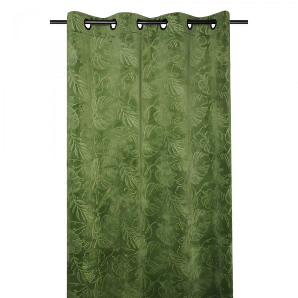 rideau tamisant 135 x 260 cm tropika vert