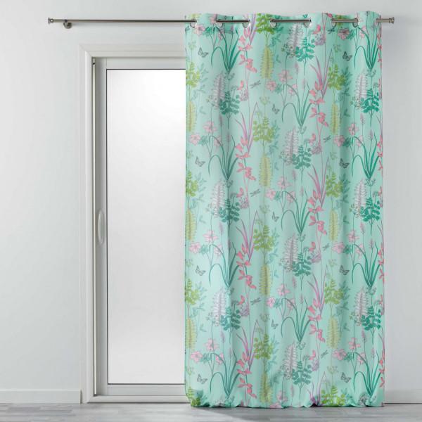 rideau tamisant 140 x 260 cm fresh garden vert menthe
