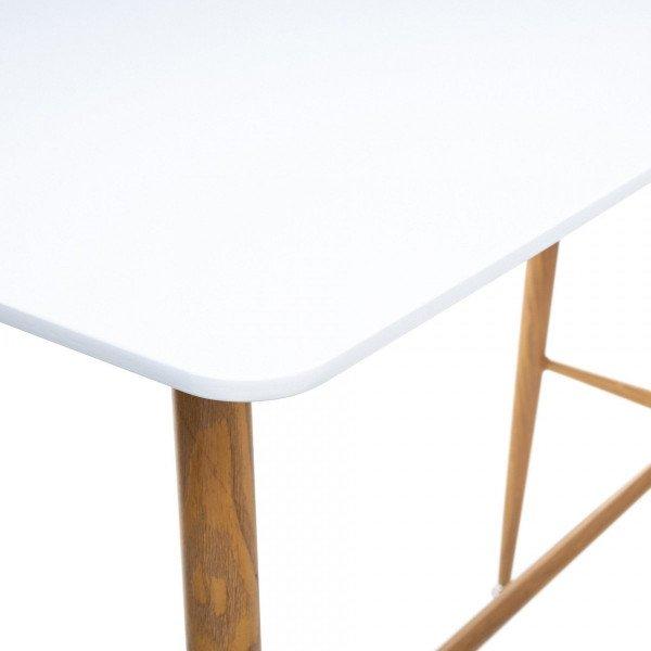 table de bar mange debout roka blanche