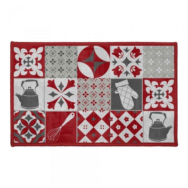 tapis cuisine 80 cm credence rouge